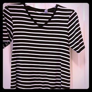 Black/white striped T-shirt